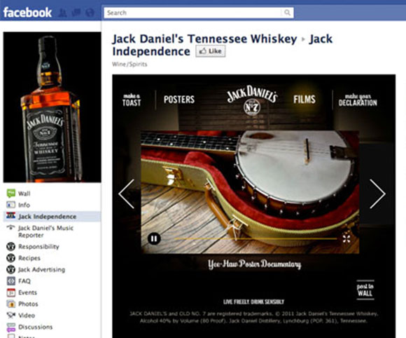 Jack Daniel's Facebook Application
